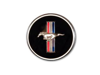 67-68 Delux int., Running horse tribar emblem w/out base