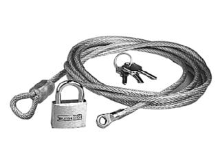 Fits all car covers, durable multi strand cable with padlock