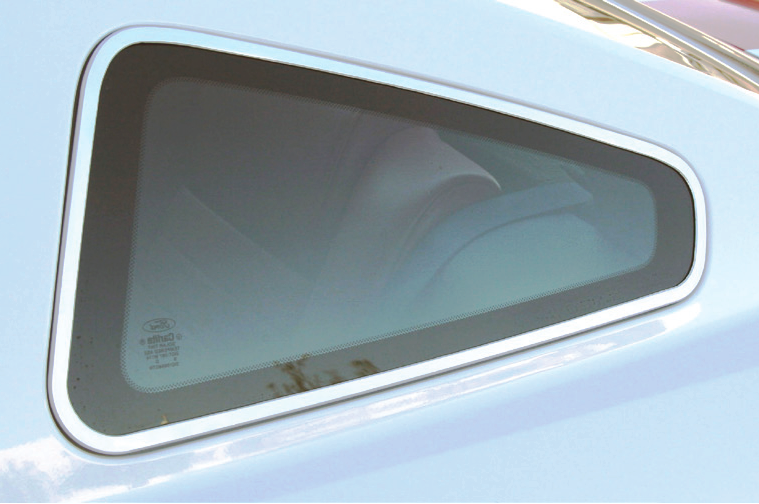 Quarter window trim 05-09 satin